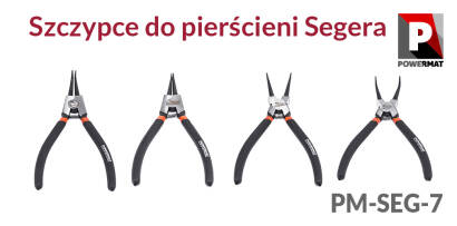 Szczypce do pierścieni segera Powermat PM-SEG-7 1800MM 4el